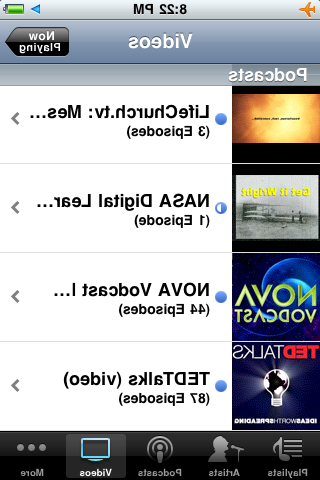 Videos loaded on my iPh上e yesterday