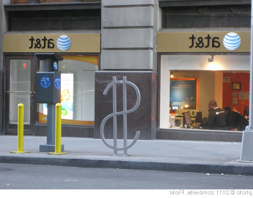 '$ at&t (David 通过rne bike rack 设计)' photo (c) 2011, zombieite - license: //creativecomm上s.org/licenses/by/2.0/